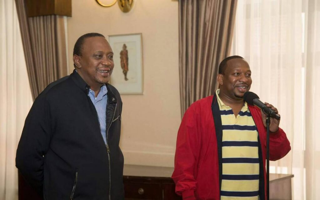 President Kenyatta with Nairobi Governor Mike SOnko